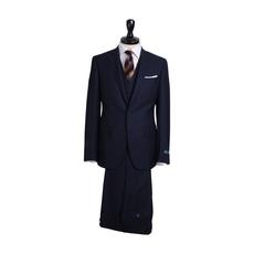 スリーピーススーツ>ブルー/無地8-0122-25-301¥38,000(税抜き)