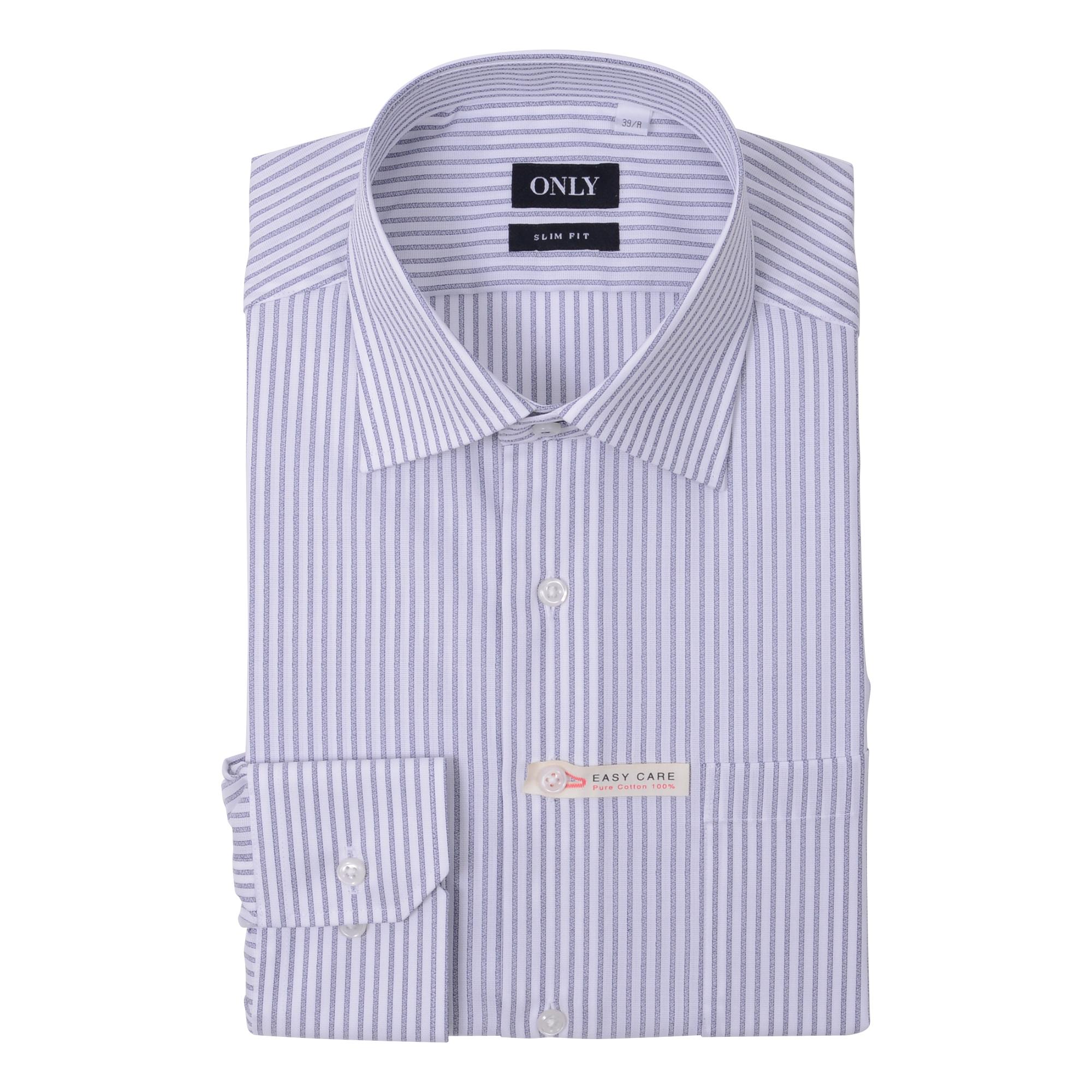 シャツ>ブルー/ストライプ1-0056-06-409¥4,800(税